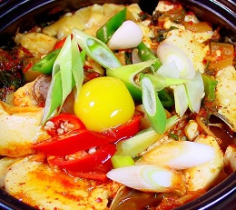 Soondooboo Chigae- Spicy Soft Tofu Stew - 순두부찌개