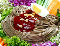 Spicy Buckwheat noodles w/ assortment of vegetables